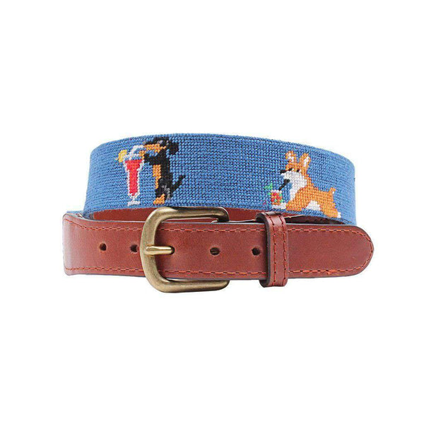 Smathers and Branson Booze Hounds Needlepoint Belt