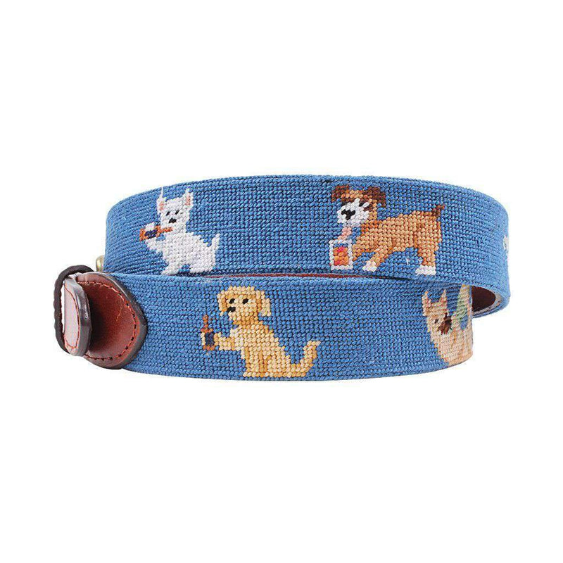 Booze Hounds Needlepoint Belt by Smathers & Branson