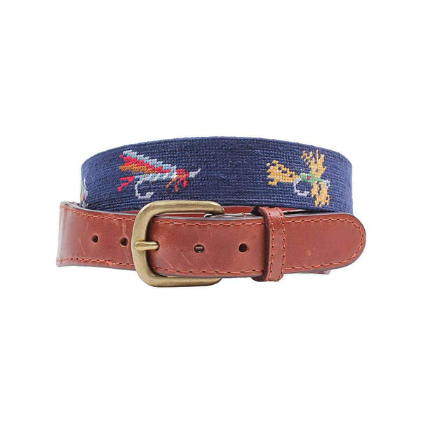 Smathers and Branson Fishing Flies Needlepoint Belt