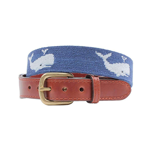 Whale Needlepoint Belt by Smathers & Branson