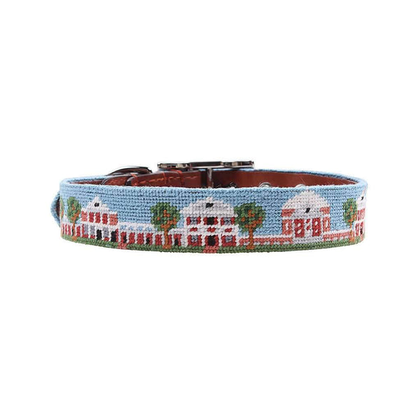 Smathers and Branson University of Virginia Lawn Needlepoint Dog Collar by Smathers & Branson