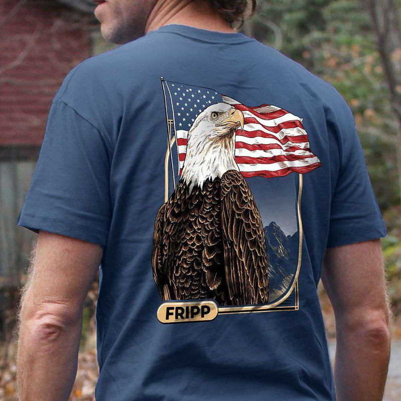 Fripp & Folly American Eagle with Flag Tee by Fripp Outdoors