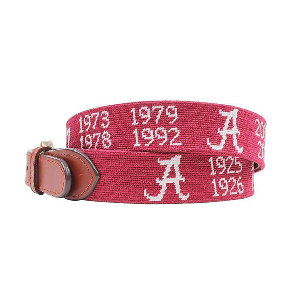 Smathers and Branson Alabama National Championship Needlepoint Belt by Smathers & Branson