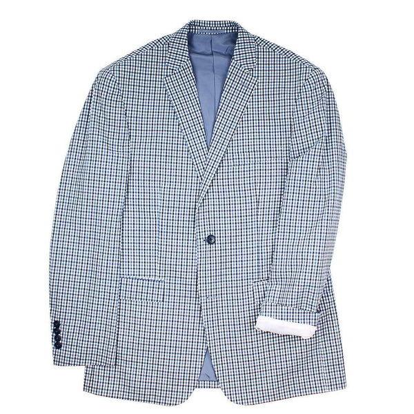Country Club Prep Navy and Blue Gingham / 40R