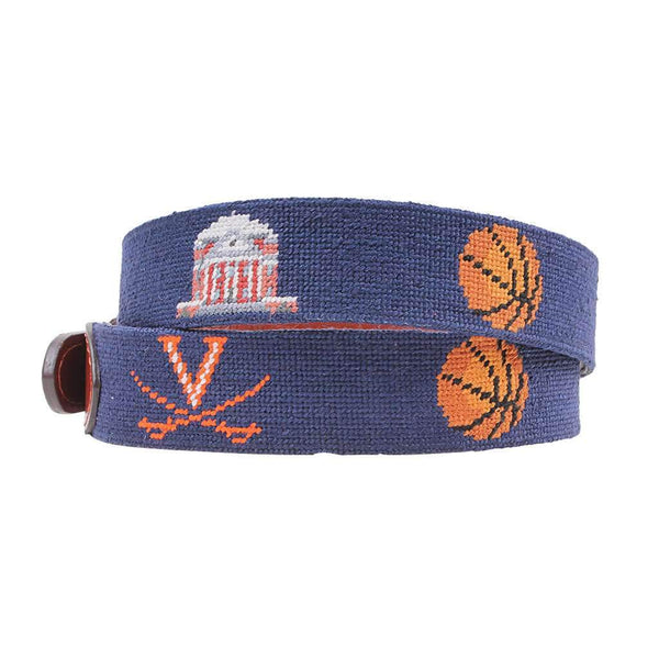 Smathers and Branson University of Virginia 2019 NCAA Basketball Champions Needlepoint Belt by Smathers & Branson