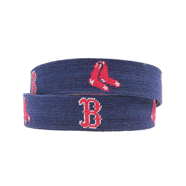 Smathers and Branson Boston Red Sox Needlepoint Belt by Smathers & Branson