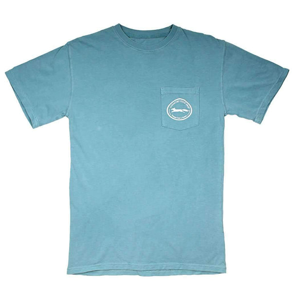 Country Club Prep Whiskey Flag Tee in Ice Blue by Country Club Prep