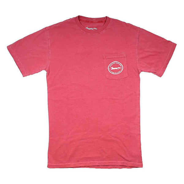 Country Club Prep Whiskey Flag Tee in Crimson by Country Club Prep