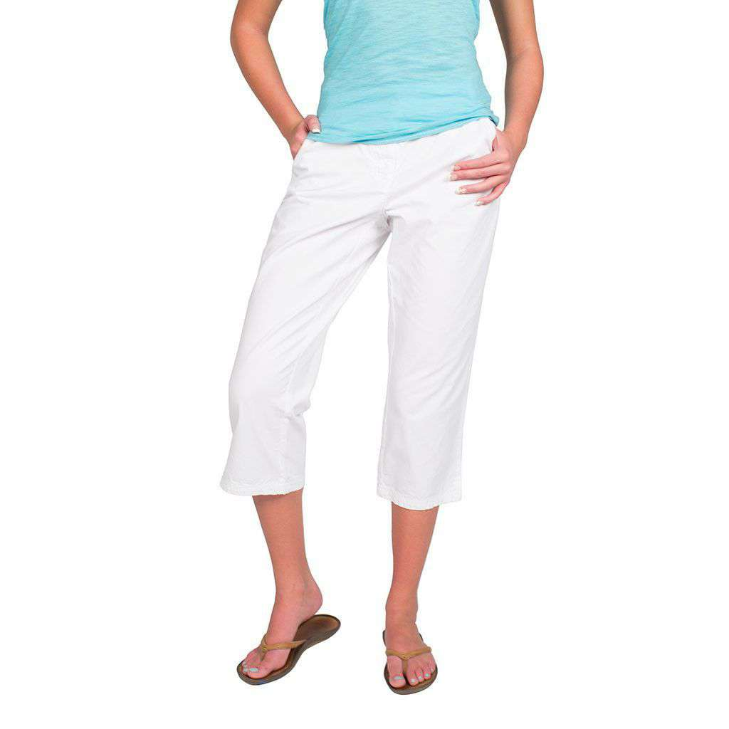 Marine Pant in White by Saint James  - 1