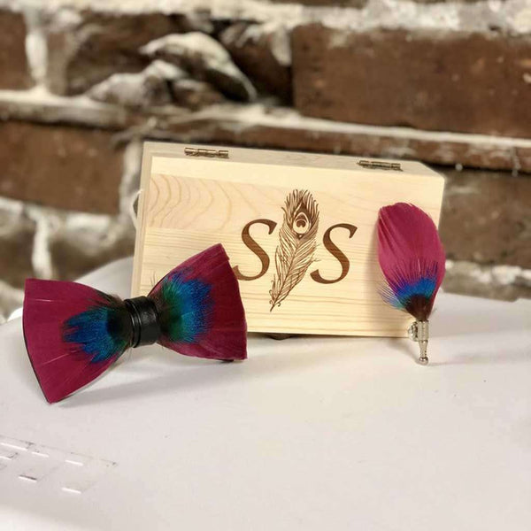 Southern Snap Co. Sunset Feather Bow Tie by Southern Snap Co.