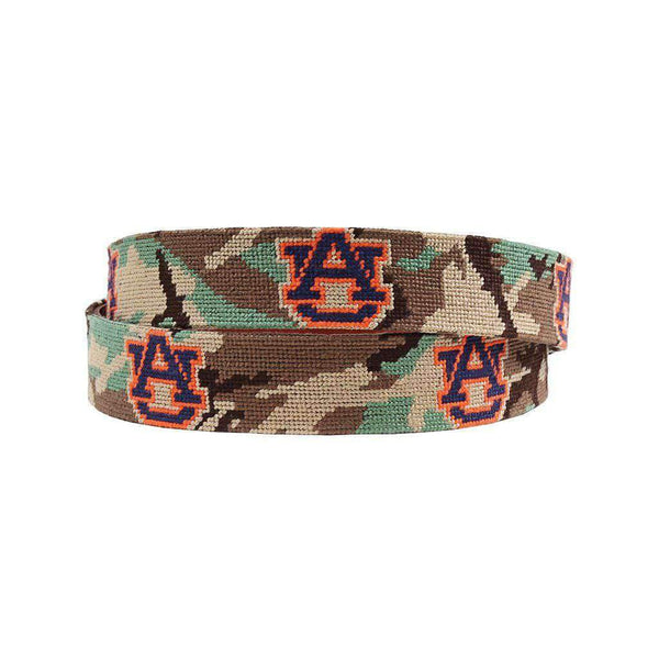 Smathers and Branson Auburn University Camo Needlepoint Belt by Smathers & Branson