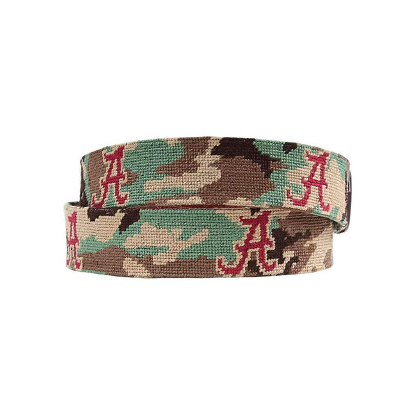 Smathers and Branson University of Alabama Camo Needlepoint Belt by Smathers & Branson