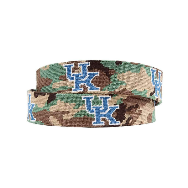 Smathers and Branson University of Kentucky Camo Needlepoint Belt by Smathers & Branson