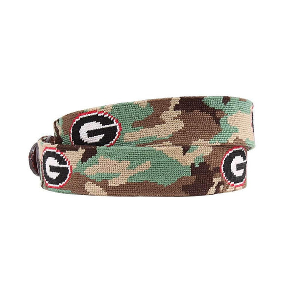 Smathers and Branson University of Georgia Camo Needlepoint Belt by Smathers & Branson