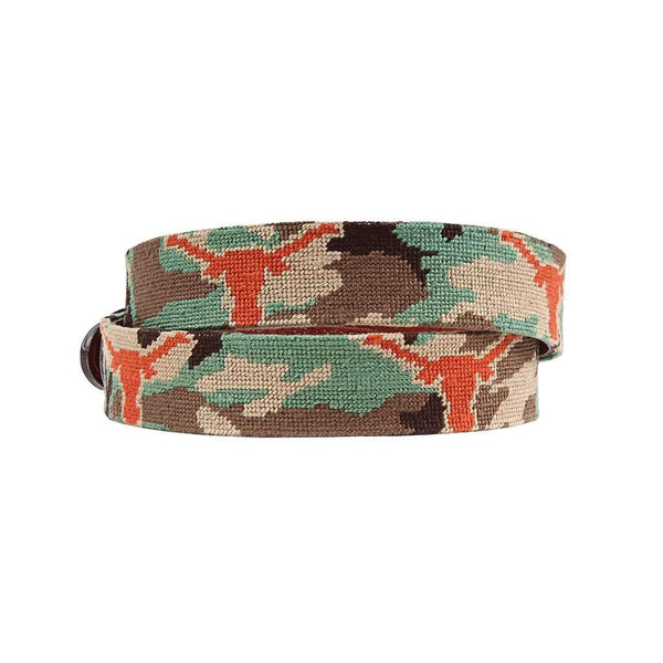 Smathers and Branson University of Texas Camo Needlepoint Belt by Smathers & Branson