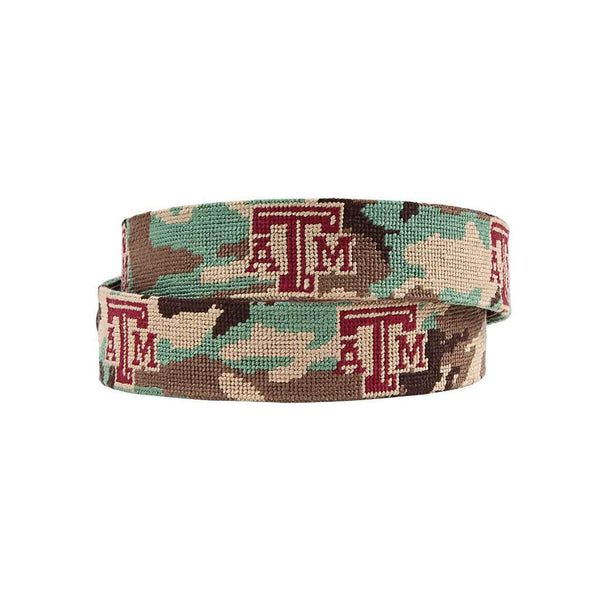 Smathers and Branson Texas A&M University Camo Needlepoint Belt by Smathers & Branson