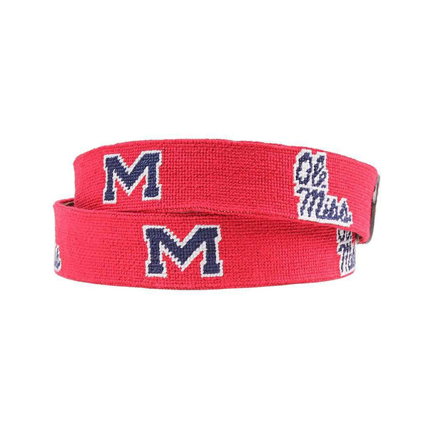 Smathers and Branson University of Mississippi Needlepoint Belt by Smathers & Branson