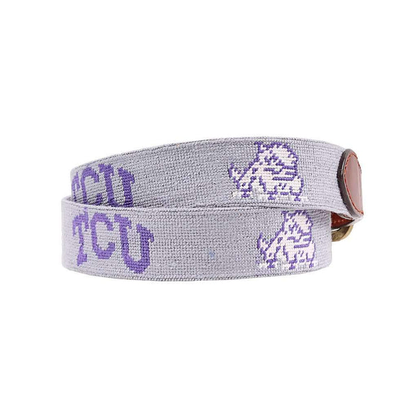 Smathers and Branson Texas Christian University Needlepoint Belt by Smathers & Branson