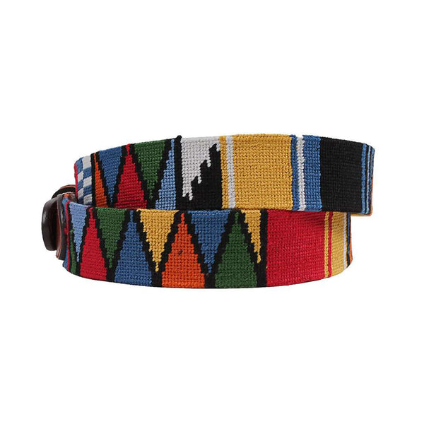 Smathers and Branson Mayan Needlepoint Belt by Smathers & Branson