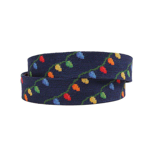 Smathers and Branson Christmas Lights Needlepoint Belt by Smathers & Branson