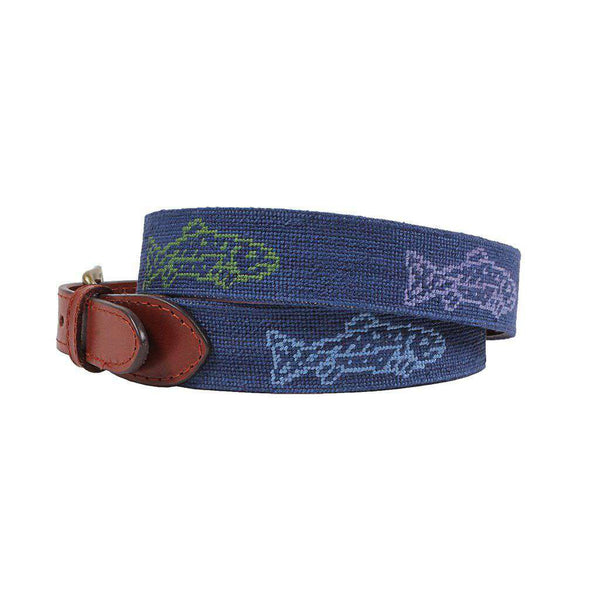 Smathers and Branson Catch of the Day Needlepoint Belt by Smathers & Branson