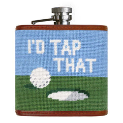 I'd Tap That Needlepoint Flask by Smathers & Branson