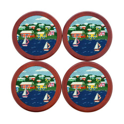 Island Time Needlepoint Coasters by Smathers & Branson