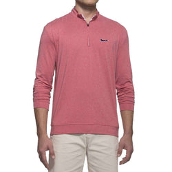 Johnnie-O Longshanks Flex Prep-Formance 1/4 Zip Pullover in Cardinal