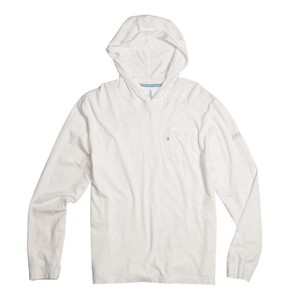 Johnnie-O Eller Long Sleeve Hooded T-Shirt in White