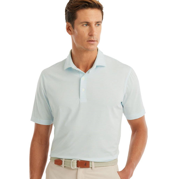 Albatross Prep-Formance Striped Polo in Barbados Blue by Johnnie-O