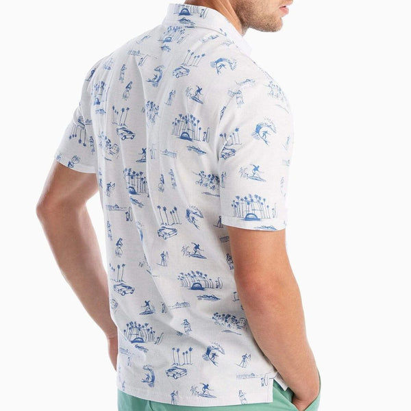 The Original 4-Button Polo Drifter Print by Johnnie-O