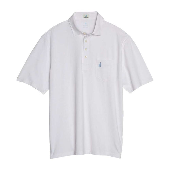 The Original 4-Button Polo in White by Johnnie-O