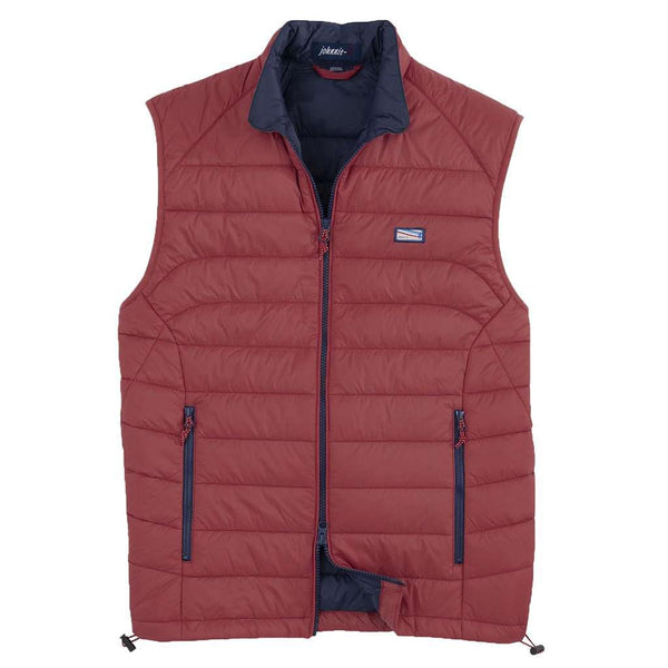 Johnnie-O Hudson Quilted 2-Way Zip Front Vest by Johnnie-O