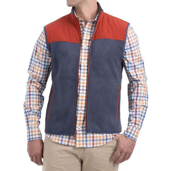 Johnnie-O Morrison Zip Front Polar Fleece Vest by Johnnie-O