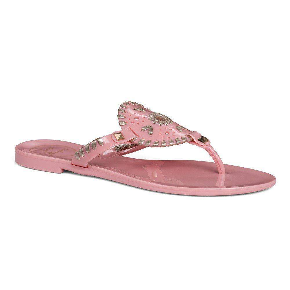 Georgica Jelly Sandal in Blush and Platinum by Jack Rogers