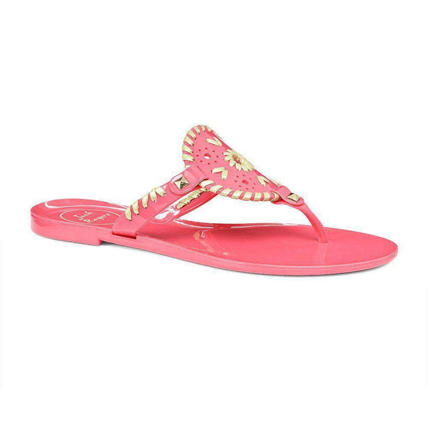 Georgica Jelly Sandal in Pink and Gold by Jack Rogers