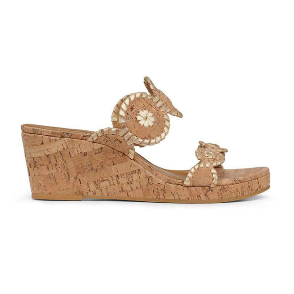 Jack Rogers Lauren Mid Wedge cork and gold