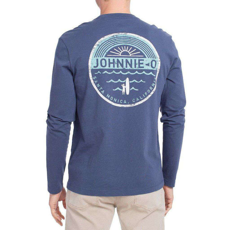 Agua Sol Long Sleeve T-Shirt in Pacific by Johnnie-O - FINAL SALE