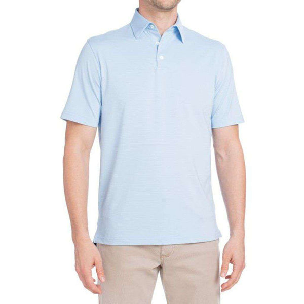 Albatross Prep-Formance Striped Polo in Gulf Blue by Johnnie-O - FINAL SALE