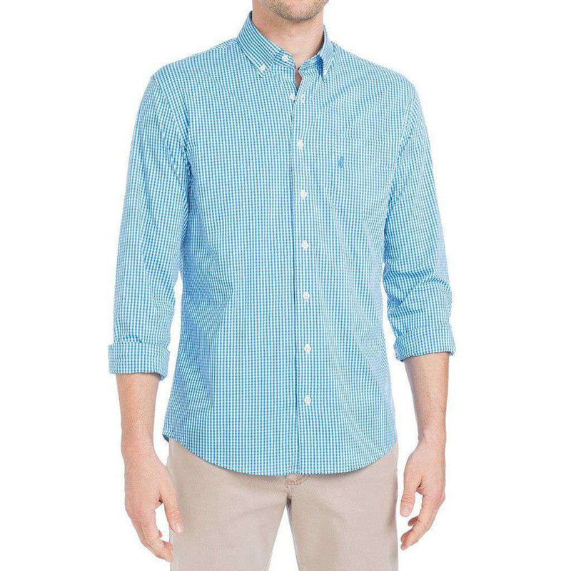 Augusta Prep-Formance Button Down in Oasis by Johnnie-O - FINAL SALE