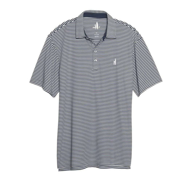 Johnnie-O Bunker Striped Prep-Formance Polo in Midnight