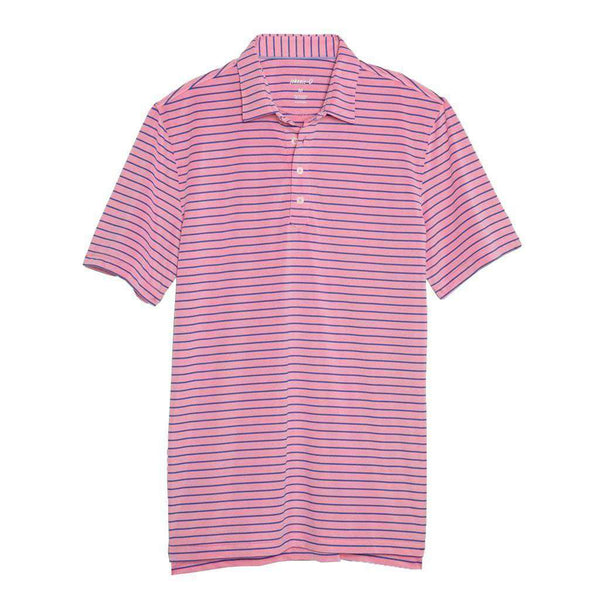 Johnnie-O Cay Striped Pique Prep-Formance Pique Polo in Primrose