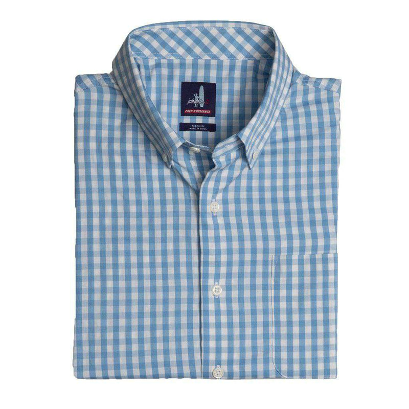 Johnnie-O Chet Prep-Formance Button Down Shirt gulf blue