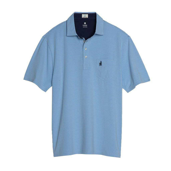 Johnnie-O Cliffs Polo in Gulf Blue