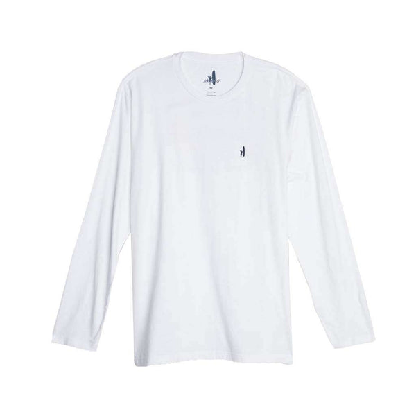 Johnnie-O Deck Long Sleeve T-Shirt in White by Johnnie-O