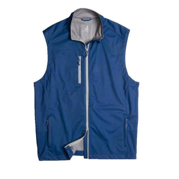 Johnnie-O Firestone 2-Way Zip Front Wind Vest in Blazer