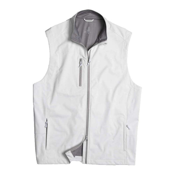 Johnnie-O Firestone 2-Way Zip Front Wind Vest in White