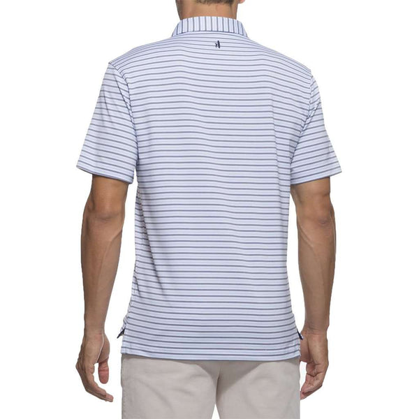 Hyder Striped Prep-Formance Polo in White by Johnnie-O