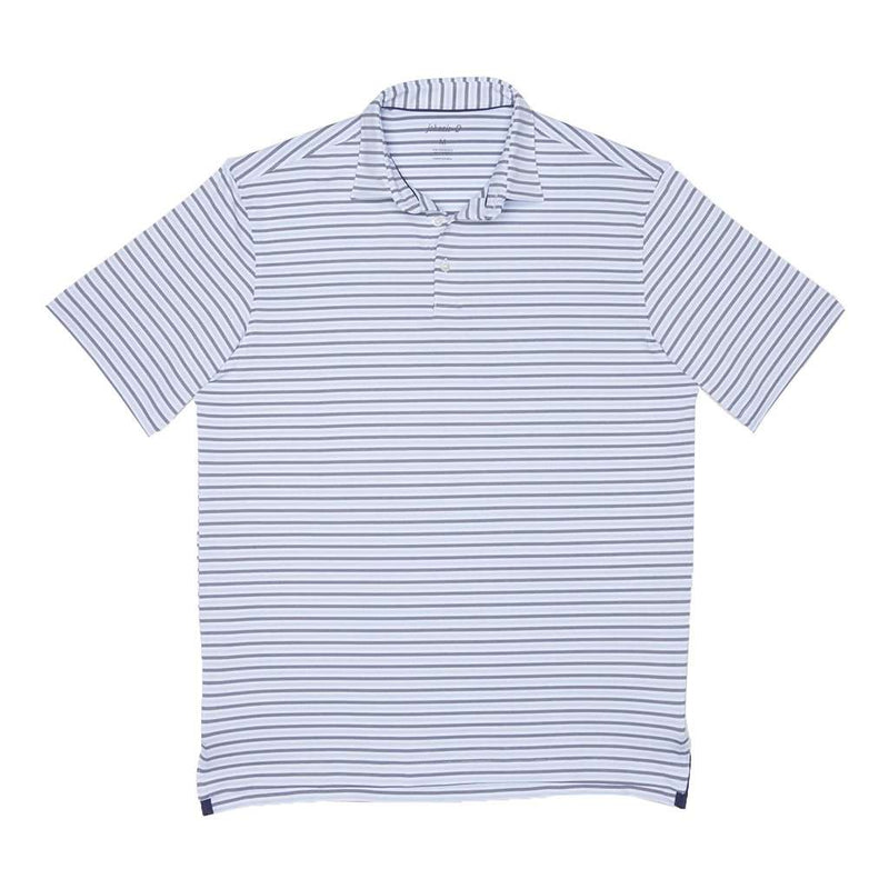 Johnnie-O Hyder Striped Prep-Formance Polo in White