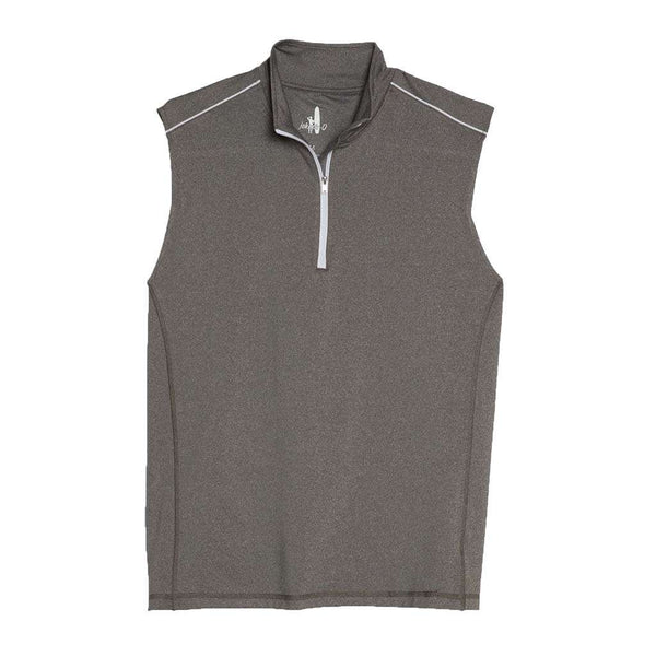 Johnnie-O Lammie 1/4 Zip Prep-Formance Vest in Meteor
